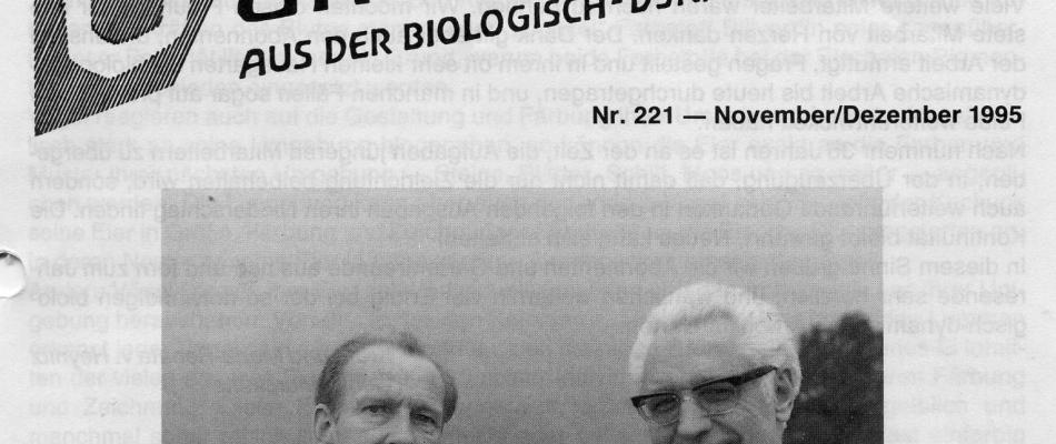 Die Gründer des Demeter Gartenrundbriefs: rechts Krafft von Heynitz (✝), links Georg Mertens (✝)